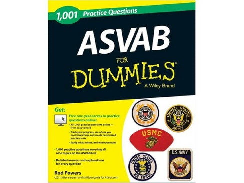 1,001 ASVAB Practice Questions for Dummies (Paperback) (Rod Powers) - image 1 of 1
