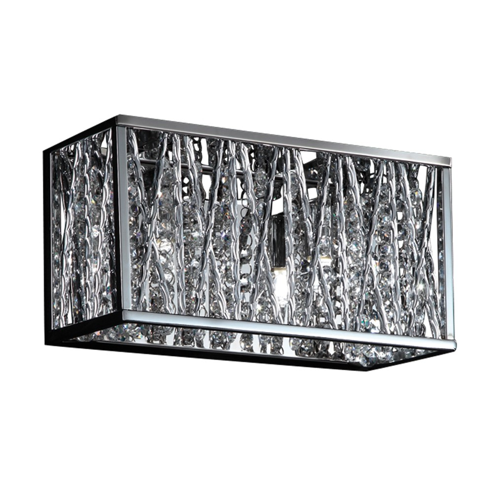 Vanity Wall Lights with Chrome Glass (Fit 2 Bulbs) - Z-Lite