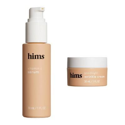 hims Skin Good Night Wrinkle Cream + Morning Serum Kit - 2pc