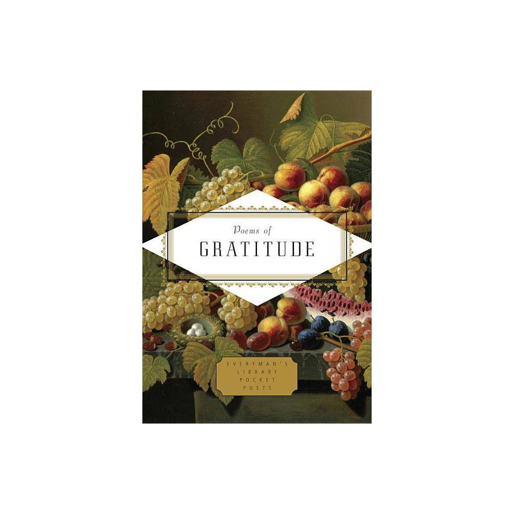 Poems Of Gratitude Everyman S Library Pocket Poets By Emily Fragos Hardcover