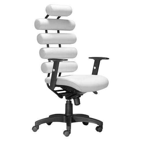 Modern High Back Adjule Office Chair White Zm Home