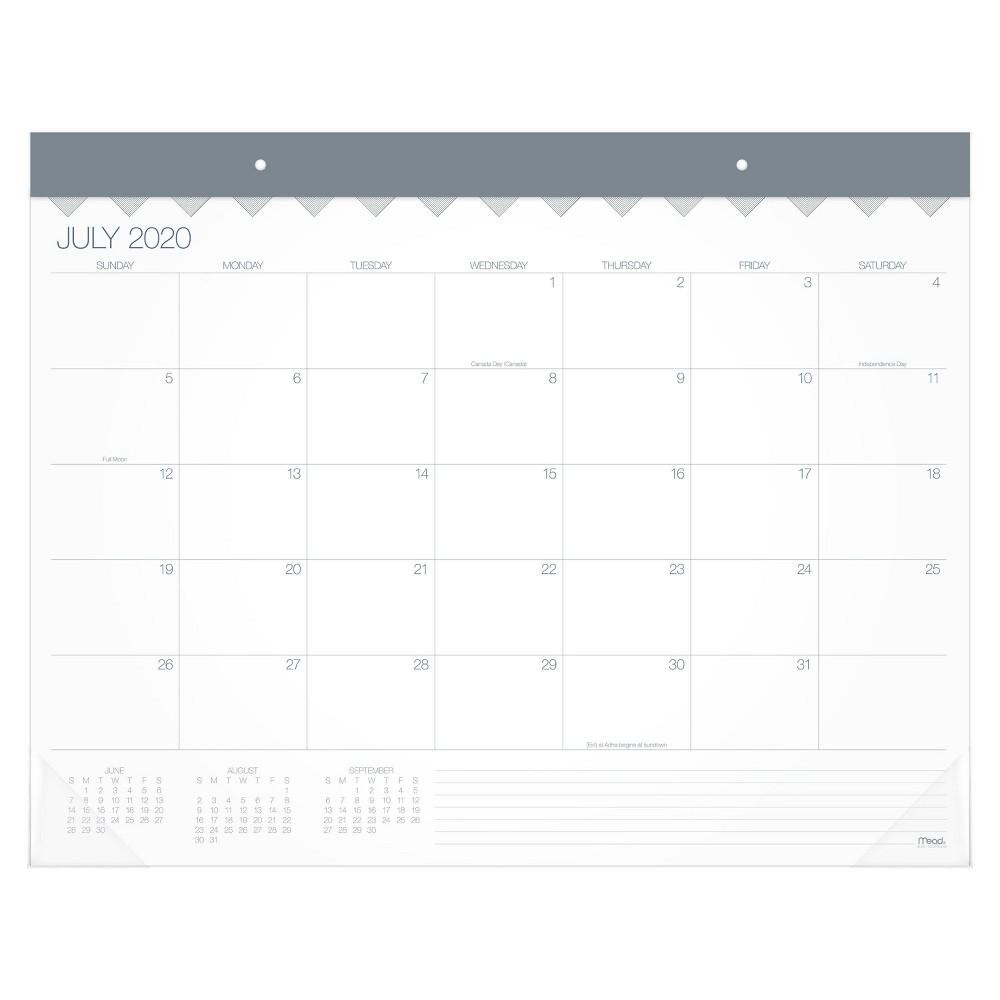 Image of 2020-21 Academic Desktop Calendar White - Mead