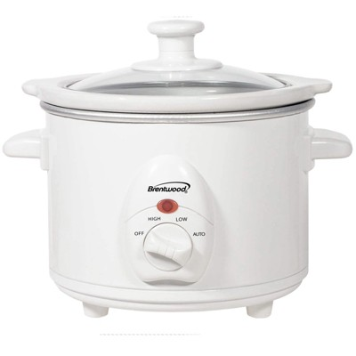 Brentwood 1.5 QT Slow Cooker in White