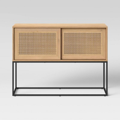 Belmar Woven Sliding Door Console Table Natural - Project 62™