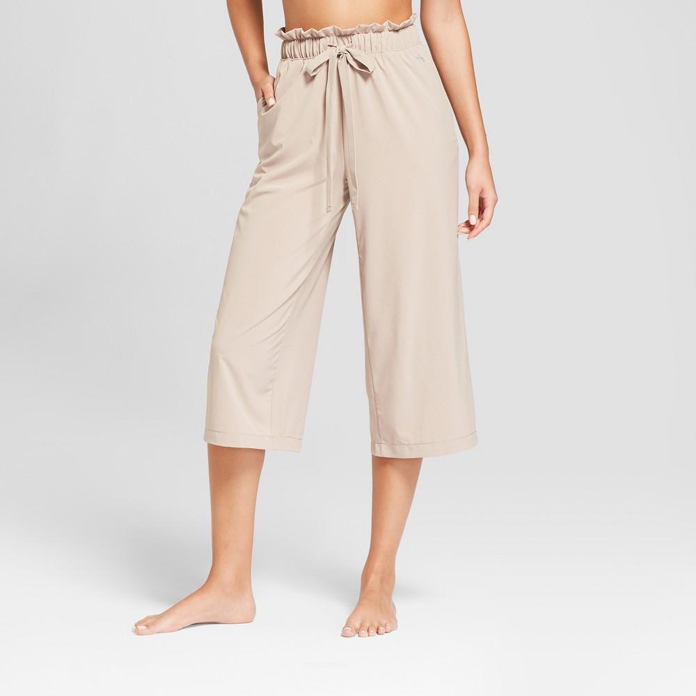 Women's Stretch Woven Wide Leg Pants - JoyLab Weathered Oak XL, Brown