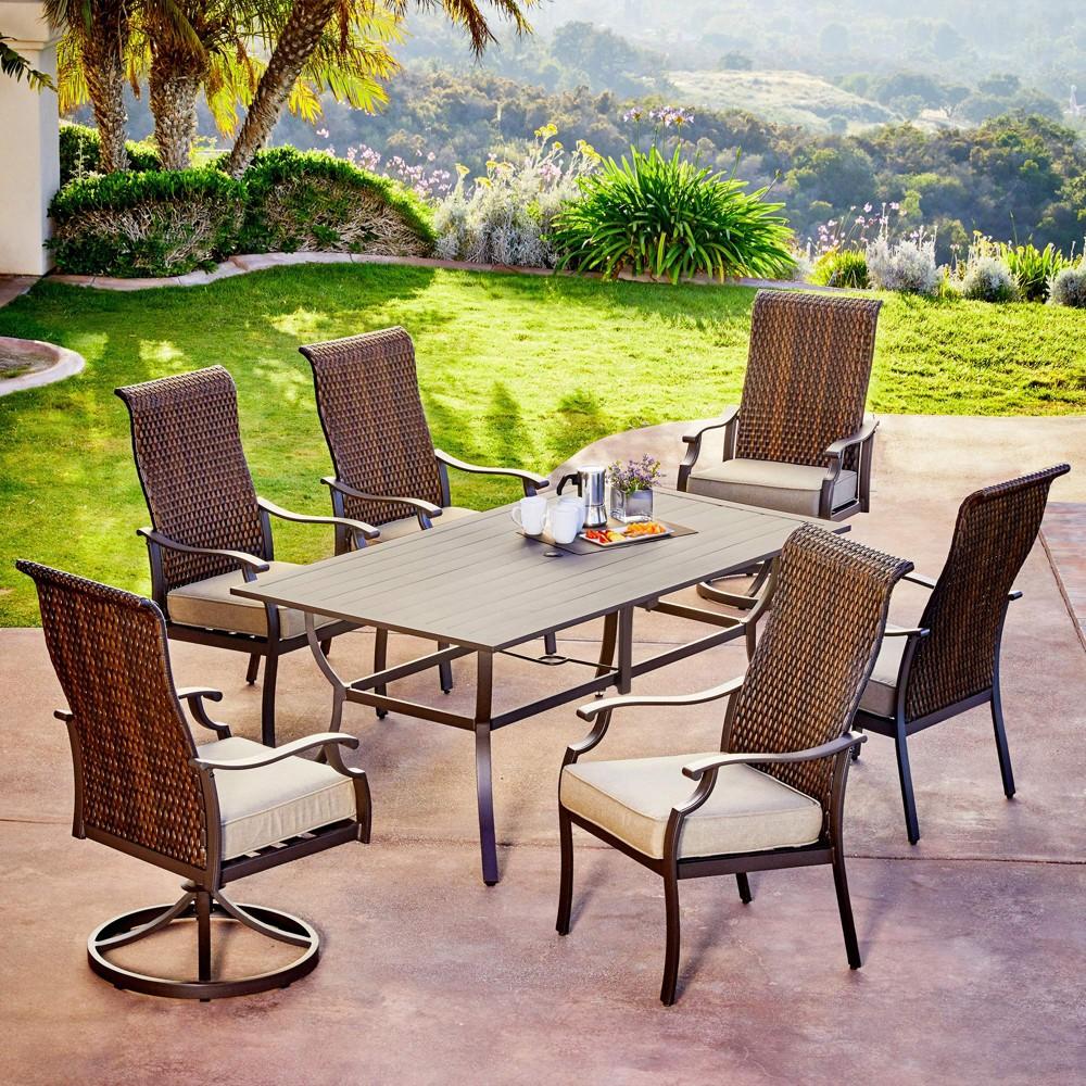 Image of 7pc Rhone Valley Dining Tan - Royal Garden