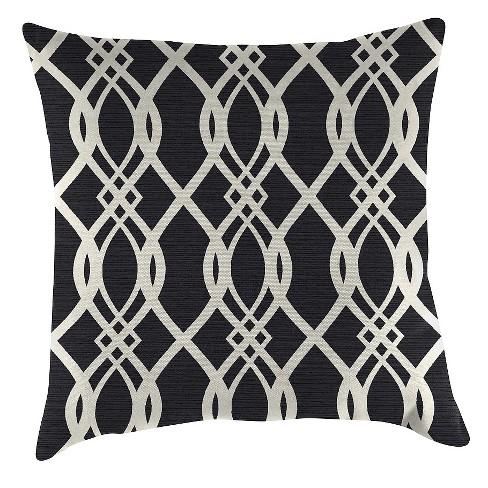 Outdoor Throw Pillow Set Jordan Manufacturing Black White Target