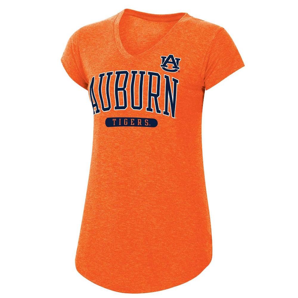 Ncaa Auburn Tigers Women 39 S Orange Short Sleeve V Neck T Shirt M