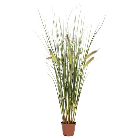 "Nearly Natural Grass Plant Green (2.5"") - image 1 of 1"