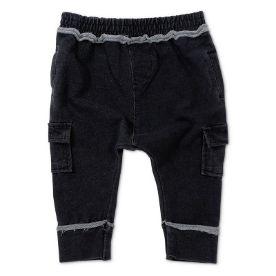 Baby Boys' Afton Street Slouchy Fit Cargo Pants - Graphite 3-6M