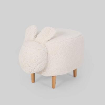 Bajada Kids' Bunny Ottoman Stool White - Christopher Knight Home