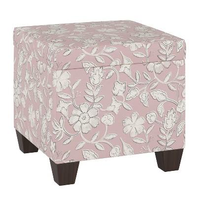 Fairland Storage Ottoman Stonecrop Floral Blush - Threshold™