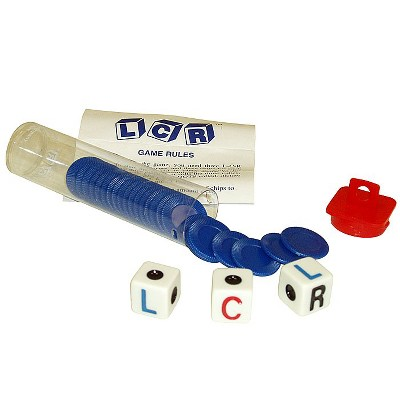 Trademark Poker Left Right Center LCR Dice Game - Choice of 4 Colors