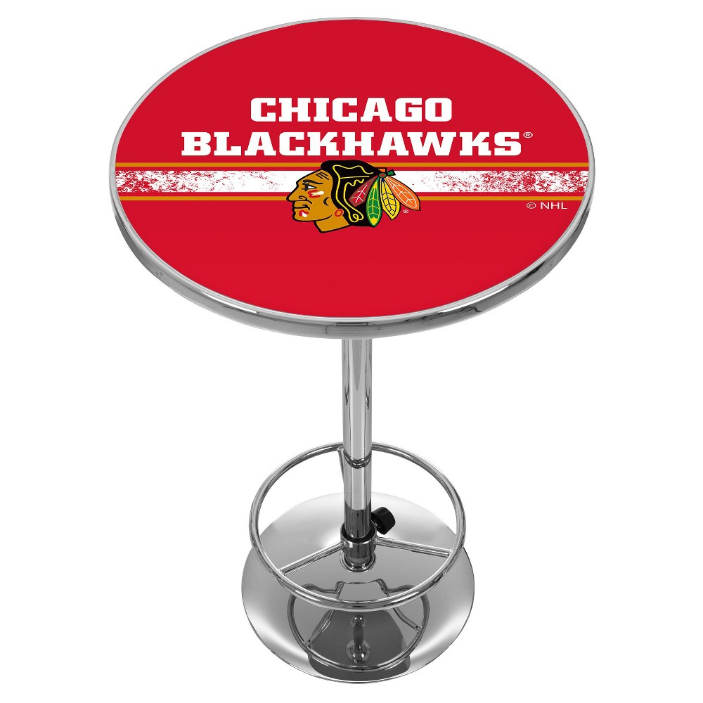 NHL Chicago Blackhawks Chrome Pub Table