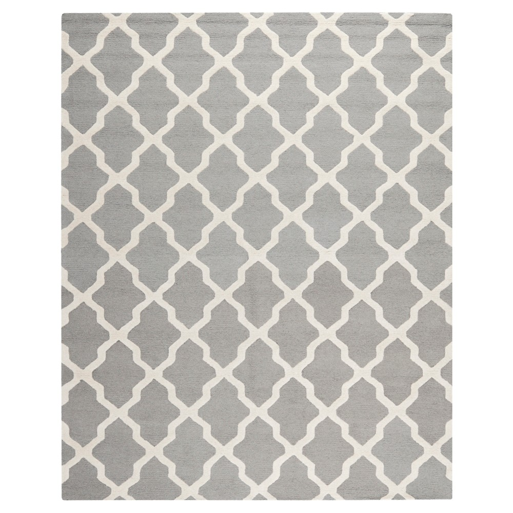 Maison Textured Area Rug - Silver / Ivory (6' x 9') - Safavieh, Silver/Ivory