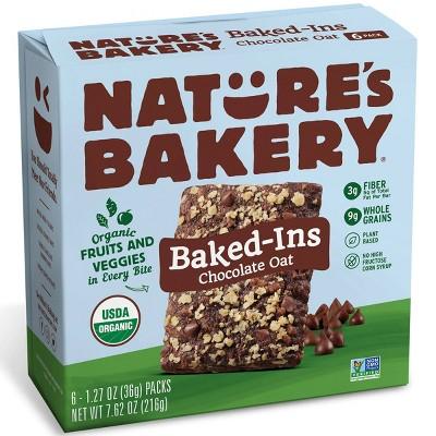 Nature's Bakery Baked-Ins Organic Chocolate Oat - 6pk/7.62oz
