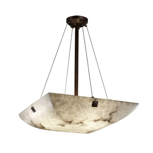 """Justice Design Group LumenAria 8 Light 48"""" Wide Pendant with Faux Alabaster Resin Shade - image 1 of 1"""