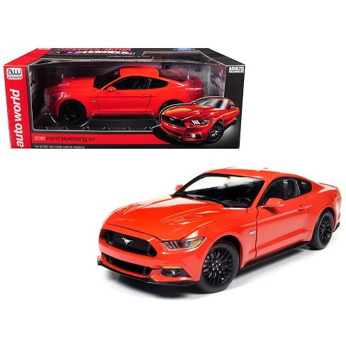 2016 Ford Mustang Gt 5 0 Coupe Compeion Orange Limited Edition To 1002 Pieces 1 18 Cast Model Car By Autoworld Target