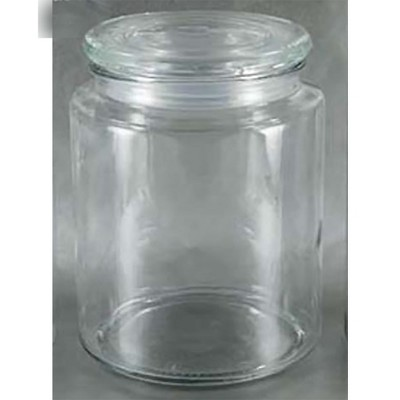 Grant Howard 52032 Large 66 Ounce Premium Round Wide Mouthed Clear Glass Kitchen Storage Container Jar with Sealed Airtight Closing Lid