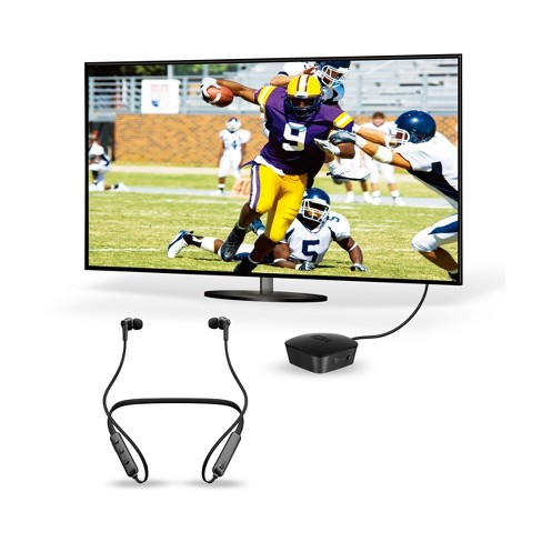 79dae0f3623 MEE Audio Connect - Bluetooth Wireless Audio Transmitter for TV with  Bluetooth In-Ear Headphones