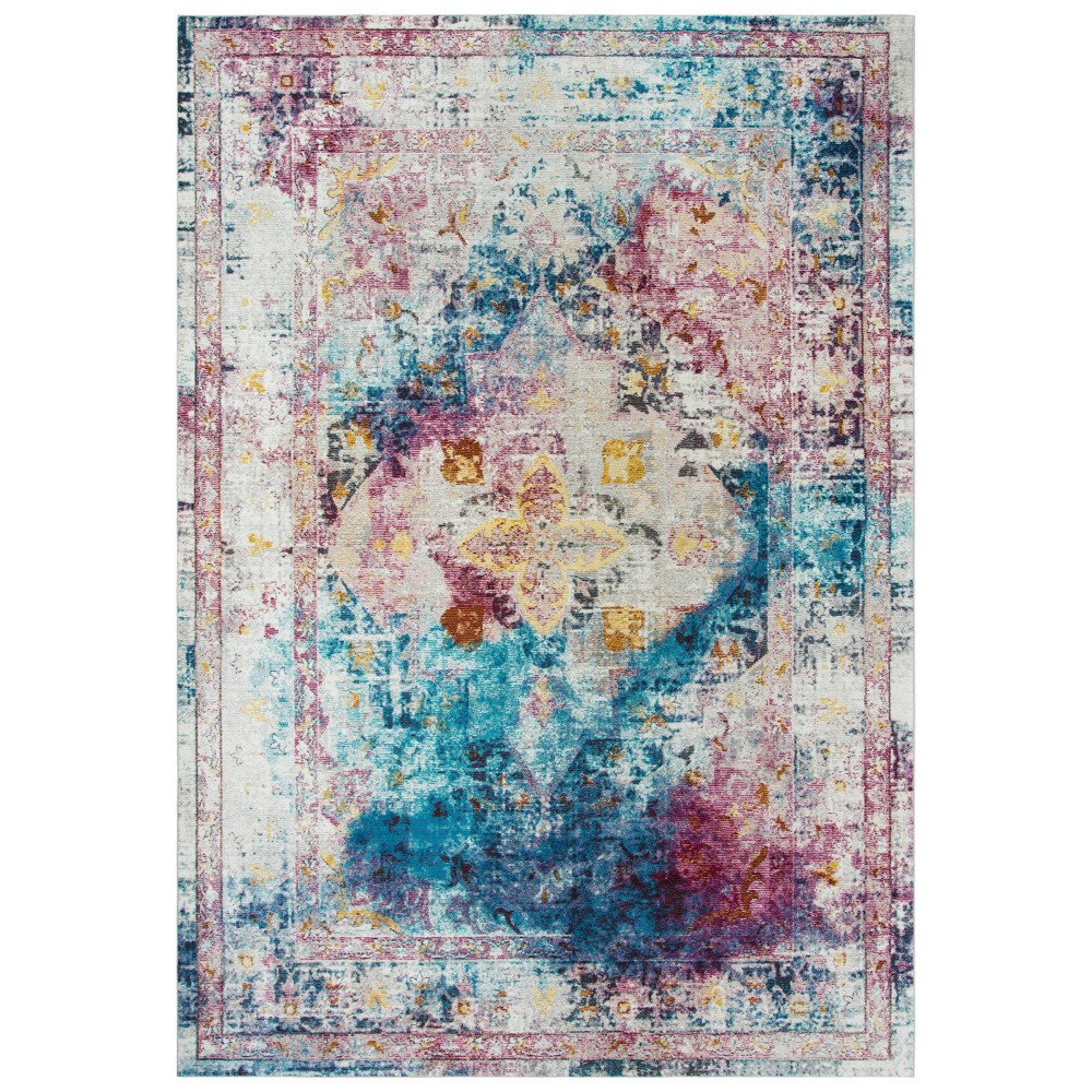 5'X7' Princeton Medallion Rug - Rizzy Home, Multi-Colored