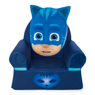 Marshmallow Furniture Comfy Foam Toddler Chair Kid's Furniture For Ages 2 Years Old And Up, PJ Masks Catboy, Blue : Target
