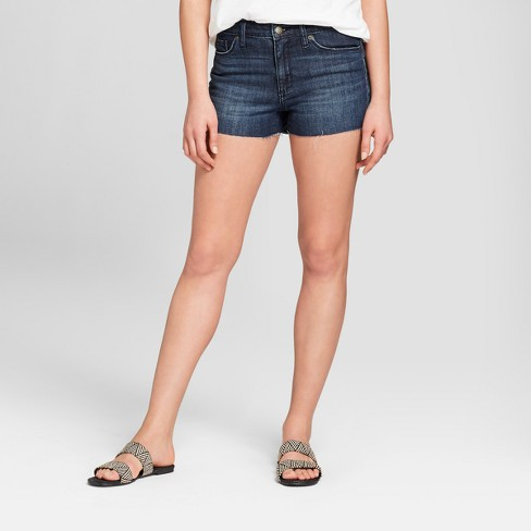 Women's High-Rise Faded Jean Shorts - Universal Thread™ Dark Wash - image 1 of 3