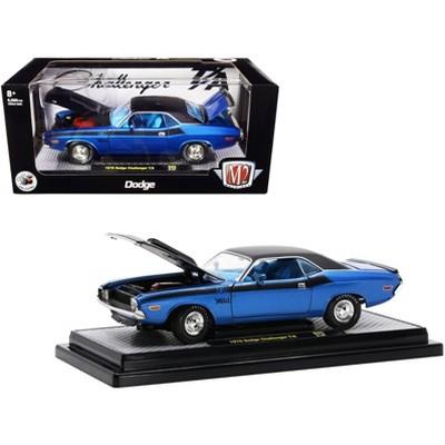 1970 Dodge Challenger T/A 340 6 Pack Blue Met. & Black w/Blue Interior Ltd Ed to 6500 pcs 1/24 Diecast Model Car by M2 Machines