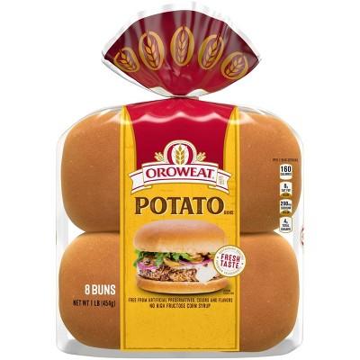 Oroweat Potato Sandwich Buns - 1lbs