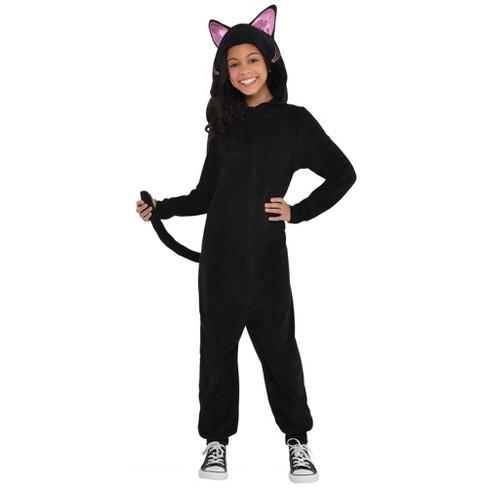 Kids Black Cat Zipster Halloween Costume - image 1 of 1