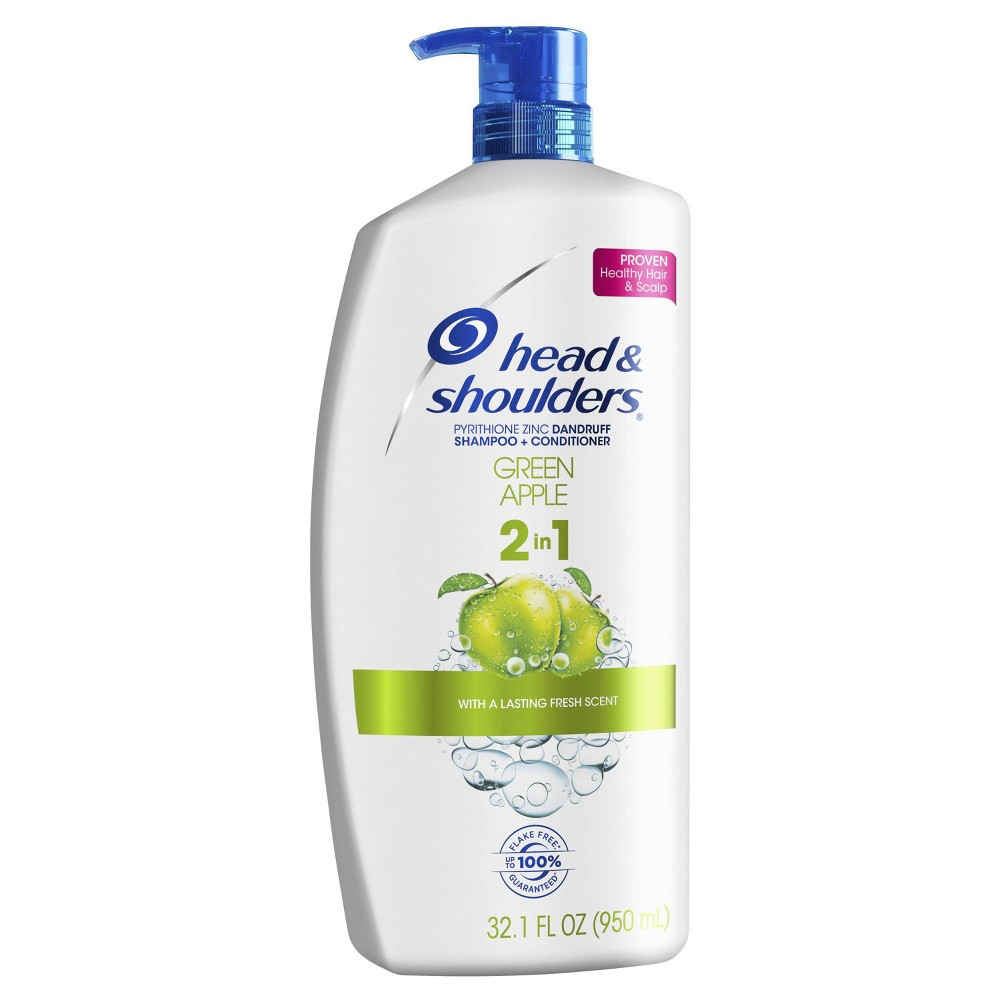 Image of Head and Shoulders Green Apple 2-in-1 Dandruff Shampoo + Conditioner - 32.1 fl oz