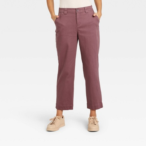 Women's High-Rise Straight Leg Ankle Pants - A New Day™ - image 1 of 3