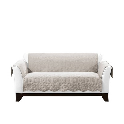 Reversible Loveseat Furniture Protector White - Sure Fit