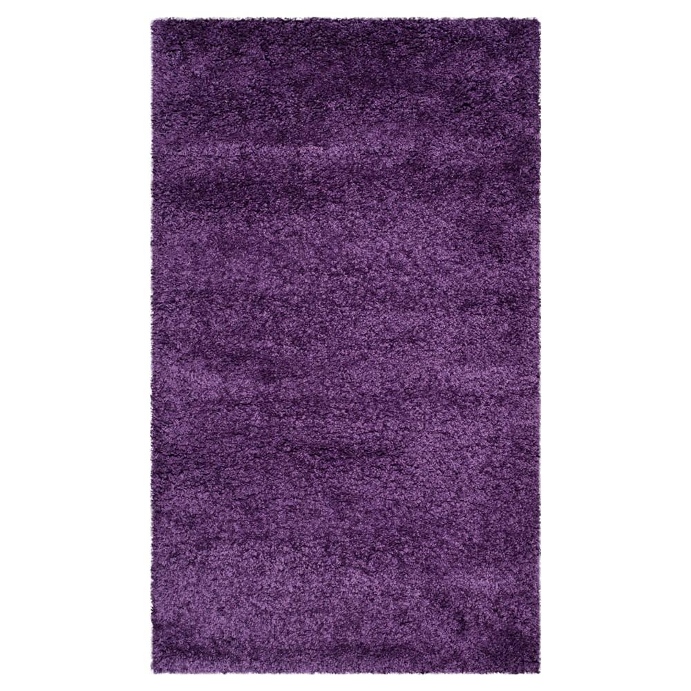 Purple Solid Shag/Flokati Loomed Area Rug - (10'X14') - Safavieh