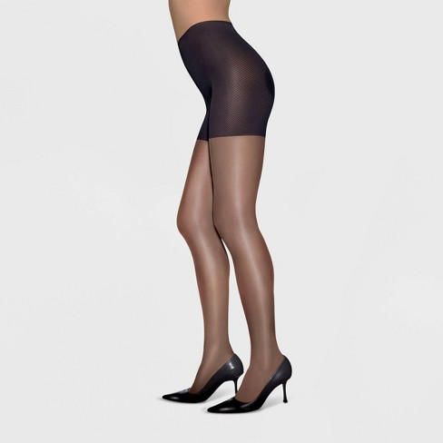 Mona Push-Up Women/'s 20 Denier Body Shaping Tights Support Sheer Pantyhose