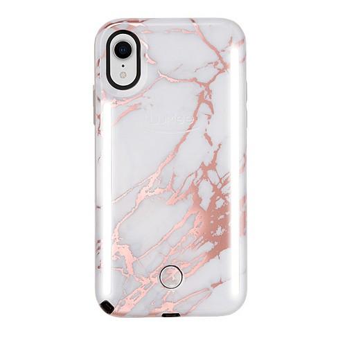 the latest 1e23e 6ae84 LuMee Apple iPhone XR Duo Marble Case