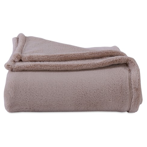 """Throw Blankets Solid Brown (50""""X60"""") - Better Living - image 1 of 1"""