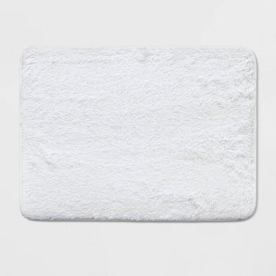 23 x17  Lurex Memory Foam Bath Rug White - Room Essentials™