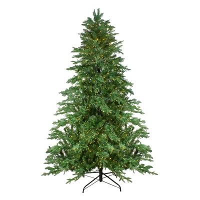 Northlight 7.5' Prelit Artificial Christmas Tree LED Mont Blanc Fir- Dual Color Lights