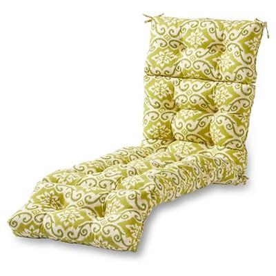 Shoreham Ikat Outdoor Chaise Lounge Cushion - Kensington Garden