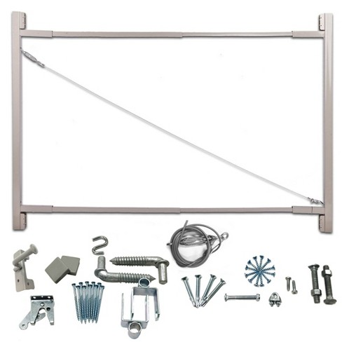 Adjust-A-Gate Steel Frame Anti Sag Gate Building Kit, 36 to 72 Inches Wide Opening Up To 6 Feet High Fence - image 1 of 4