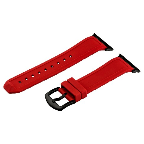 Clockwork Synergy Divers Silicone Apple Watch Band 42mm with Black Adapter - Red - image 1 of 1