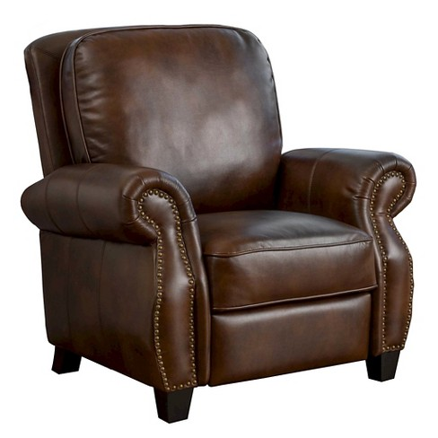 Torreon Faux Leather Recliner Club Chair Dark Brown Christopher Knight Home
