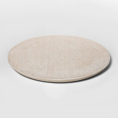 14  x 1  Earthenware Lace Tray White - Threshold™