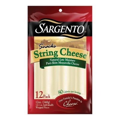 Sargento Mozzarella String Cheese Snacks - 12ct