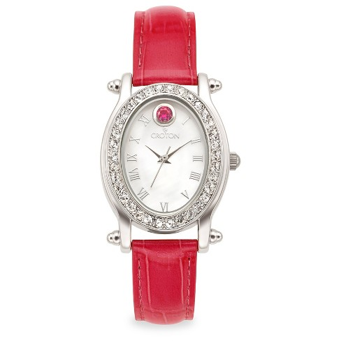 Croton Women's Brass Wristwatch - Red - image 1 of 3