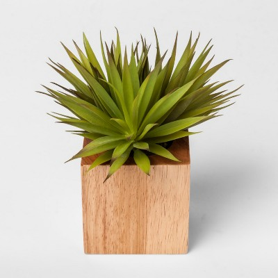 Faux Plant in Wood Pot - Small - Project 62™