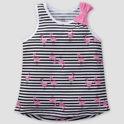 Gerber Baby Girls' Flamingo Sleeveless Top - Pink 12M