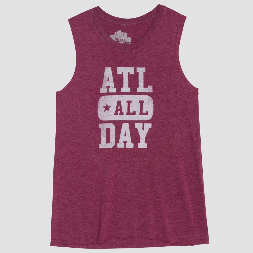 Women's Atl All Day Graphic Tank Top - Awake Charcoal M, Red