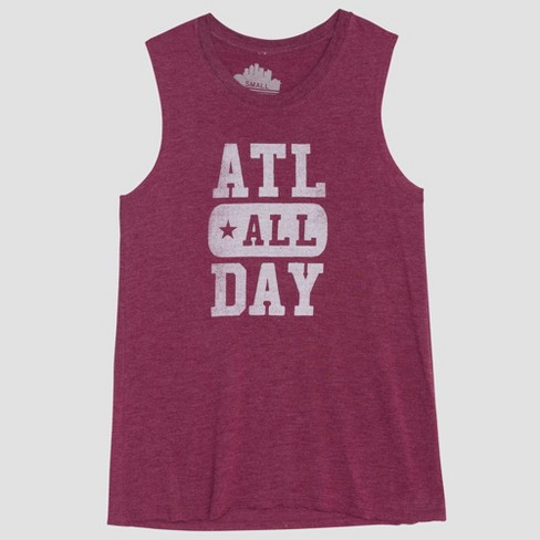Women's ATL All Day Graphic Tank Top - Awake Charcoal - image 1 of 2